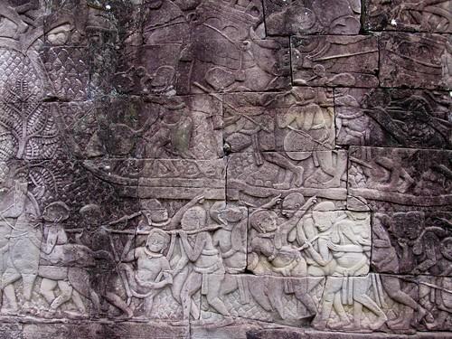 La historia del Imperio Jemer en los muros del Bayon