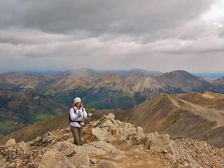 Crystal Reaching the Summit of Huron Peak