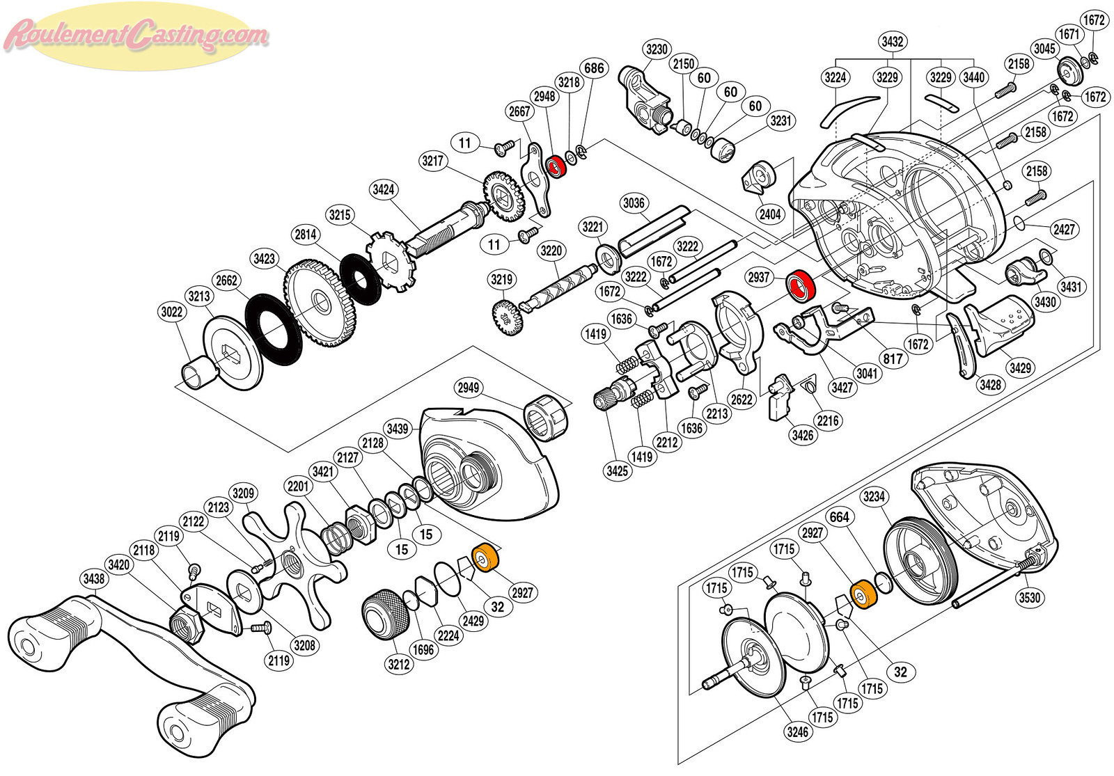 Schéma Shimano 05' Chronarch 101BSV