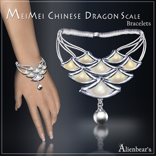 MeiMei Dragon Scale Pt Bracelet Pale