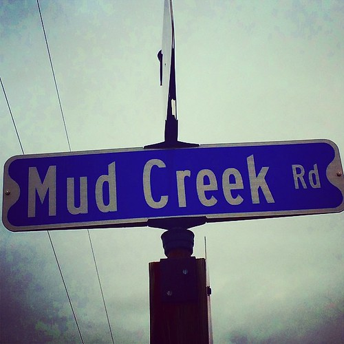 #street #road #sign #blue #mud #creek #lynnfriedman
