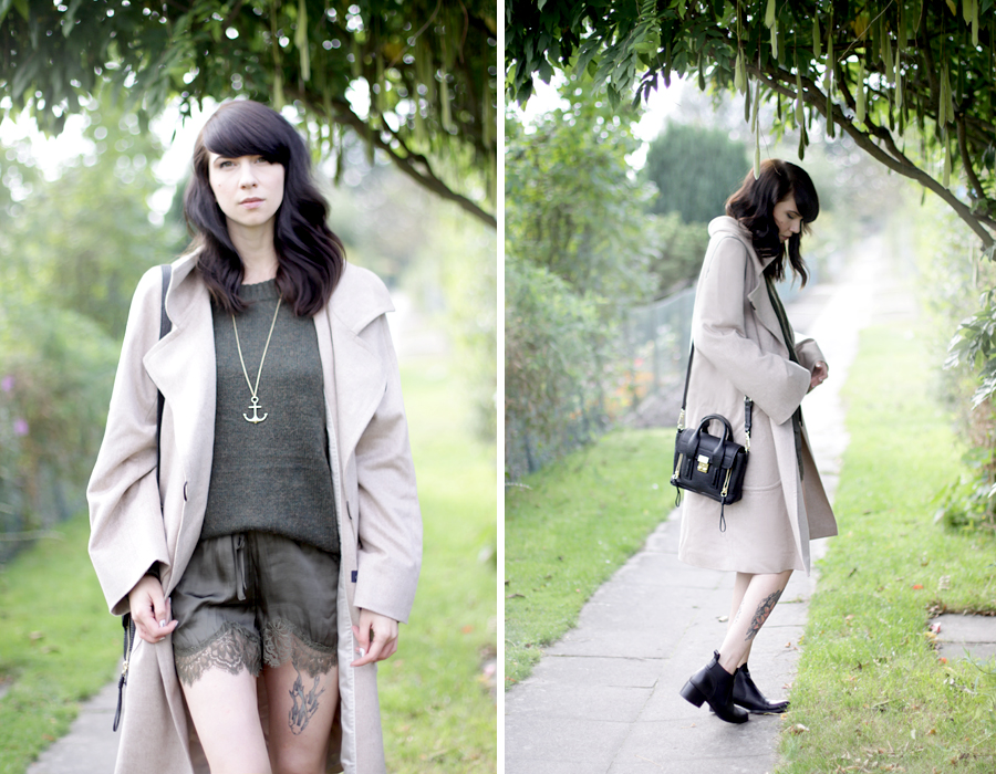 windsor. look coat oversized grey nude green style ootd fashion look CATS & DOGS ricarda schernus 5