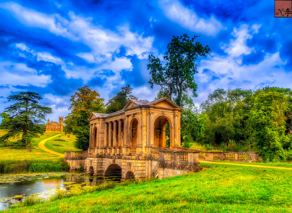 Palladian Bridge, and Gothic Templ, Stowe Garden (2 of 1)