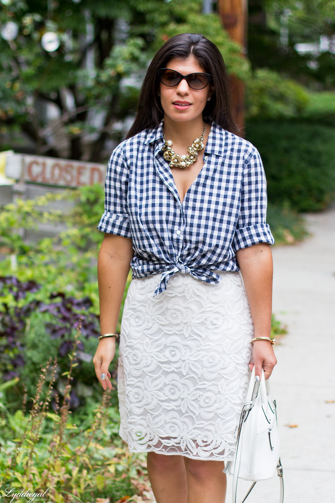 Lace skirt, gingham shirt, cherry pumps.jpg