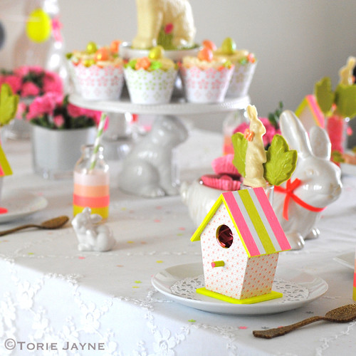 Easter Neon blush table