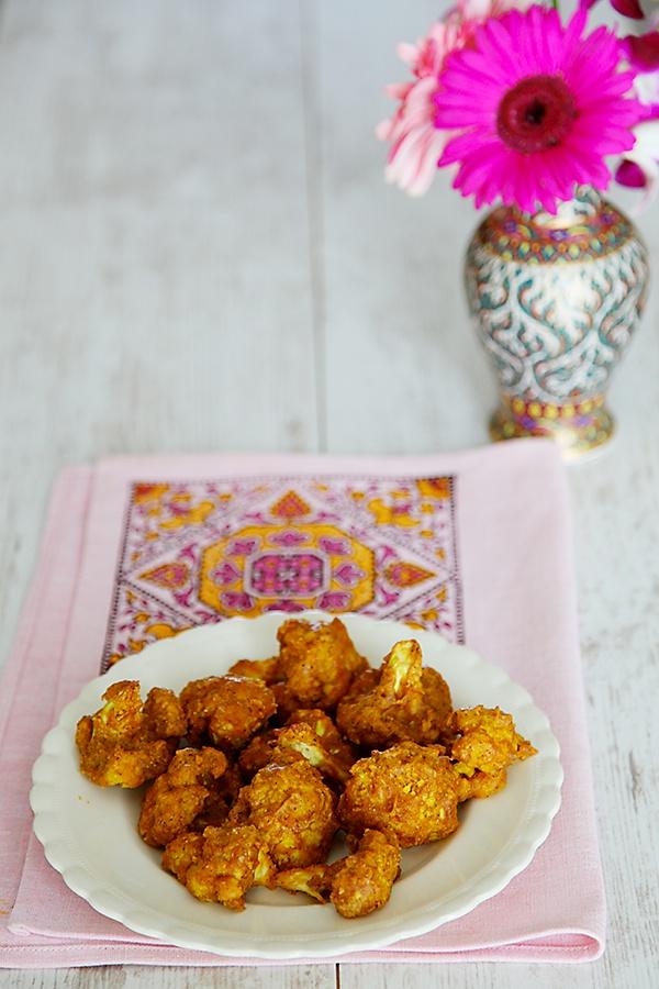 Baked Cauliflower Pakoras/Fritters