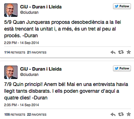 14i14 Duran contra Junqueras
