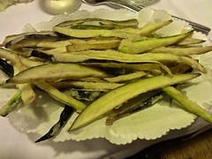 fried zucchini and eggplant at Trattoria Rivetta