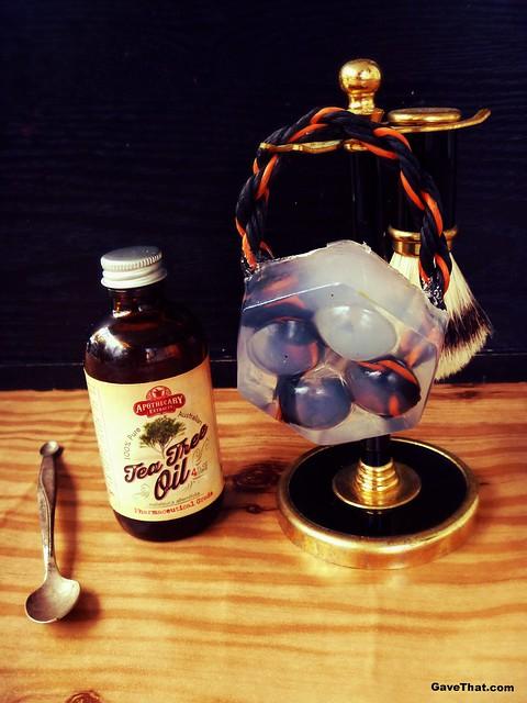 Handmade DIY Tea Tree Oil Soap on a Rope