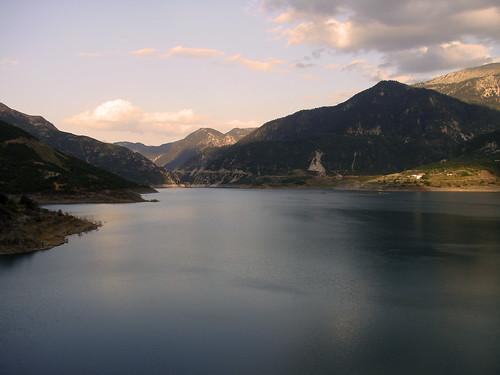 lake mountains dam evritania centralgreece