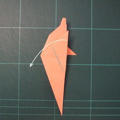 วิธีพับกระดาษเป็นรูปปลาโลมาแบบง่าย (Easy Origami Dolphin) 012