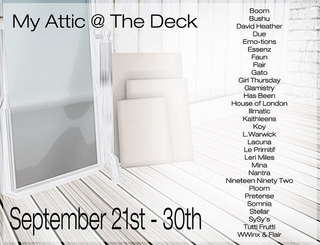 My Attic - September 2014 - Starts 21st