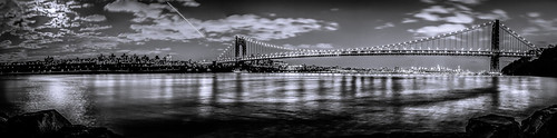 new york city bridge panorama white ny black night long exposure panoramic gwb lightroom