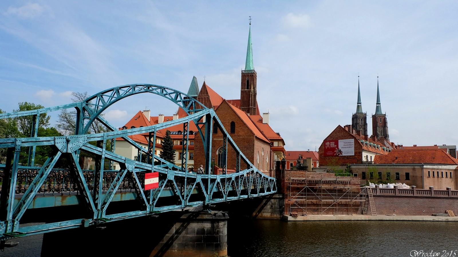 Most Tumski i Ostrów Tumski,  Wrocław, Poland