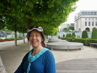 Clare at the Mont De Arts