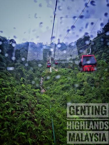 genting highlands malaysia hill gondola landscape raindrops dew cloud skywalk sky green
