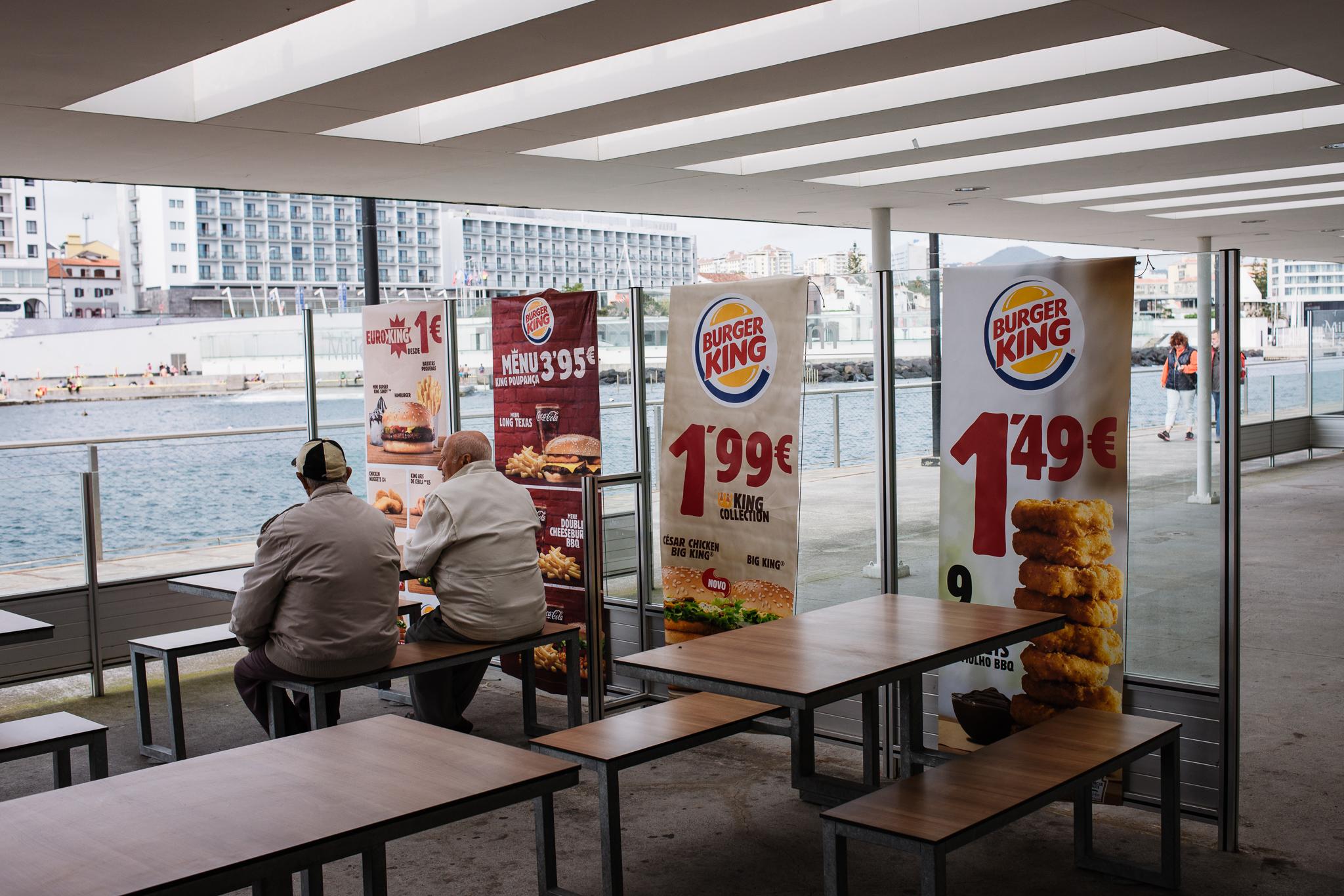 Burger King Sao Miguelben az Azori-szigeteken