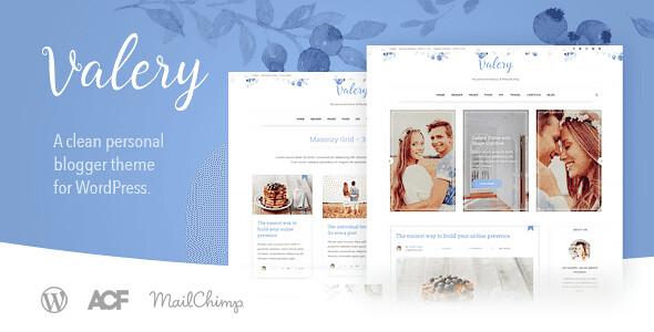 Valery WordPress Theme free download