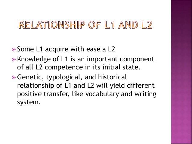 mối quan hệ L1 và L2 trong việc dạy tiếng Anh cho con nhỏ