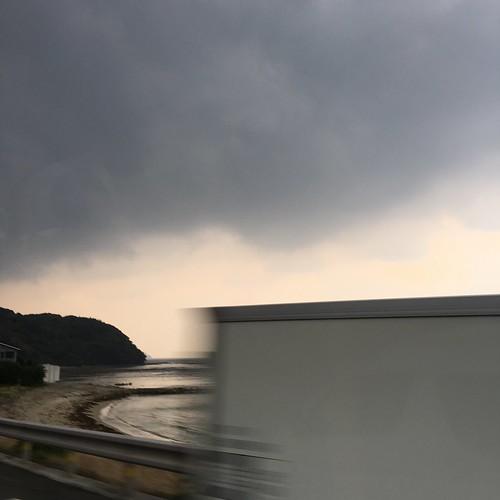 From the passenger seat: Nagano-shi, Yamaguchi Prefecture, Japan