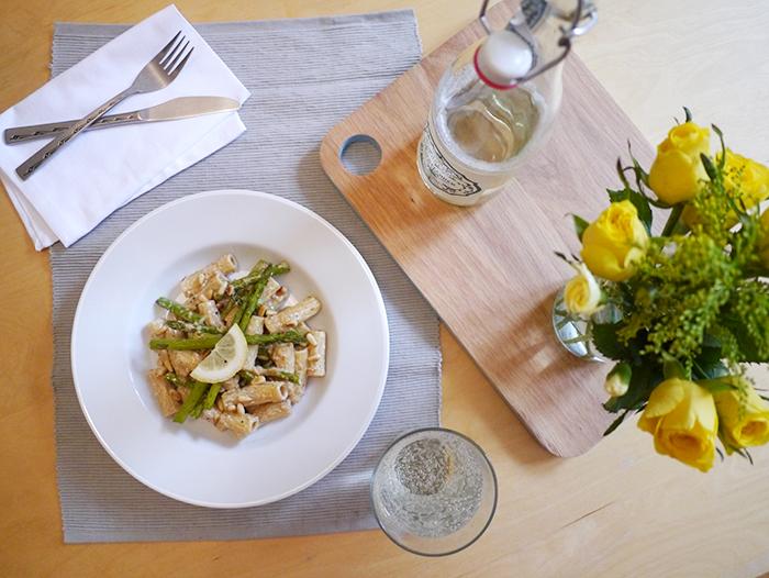 degustabox recipe asparagus and lemon pasta 4