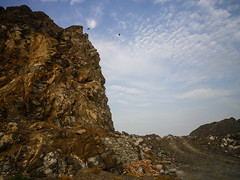Cliffs and rubble