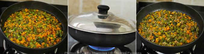 How to make carrot beans poriyal - Step3