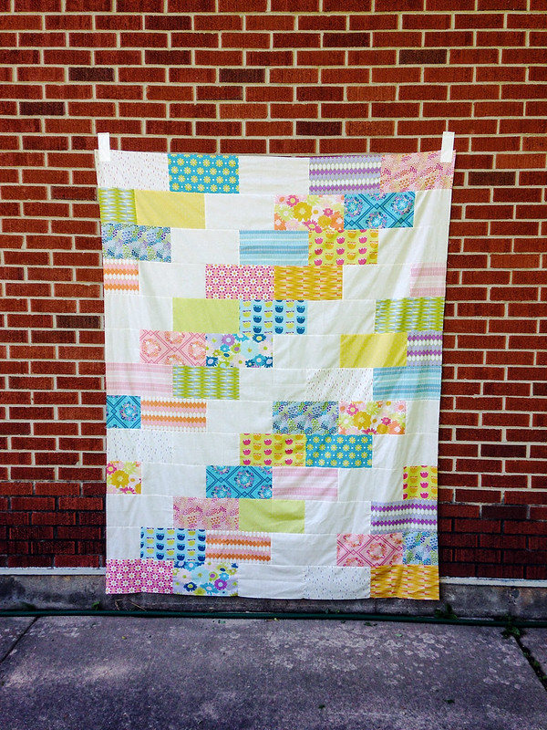 Dreamin' Vintage Side Braid Quilt Top