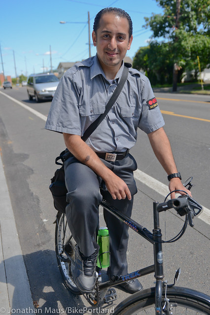 East Portland bike rider