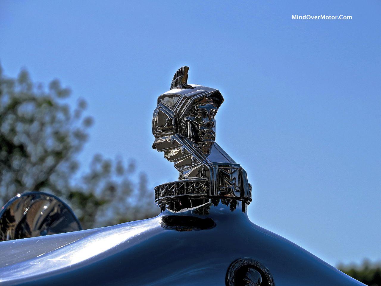 Minerva 80138AL Cabriolet Hood Ornament