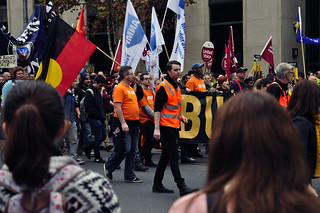 Bust the Budget rally, Melbourne, 12 June 2014