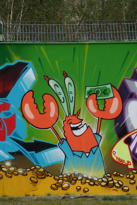 Streetart an der neuen EZB - Mr. Crab
