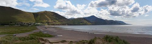 county ireland beach see stand meer dune irland kerry berge düne gebirge bucht ringofkerry rossbeigh dinglebay glenbeigh sandstrand landzunge halbinsel badebucht rossbehy meeresbucht