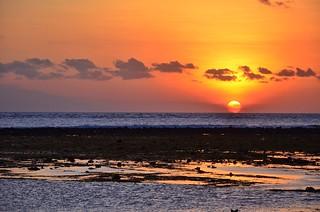 Beautiful sunset at Gili Trawangan Island
