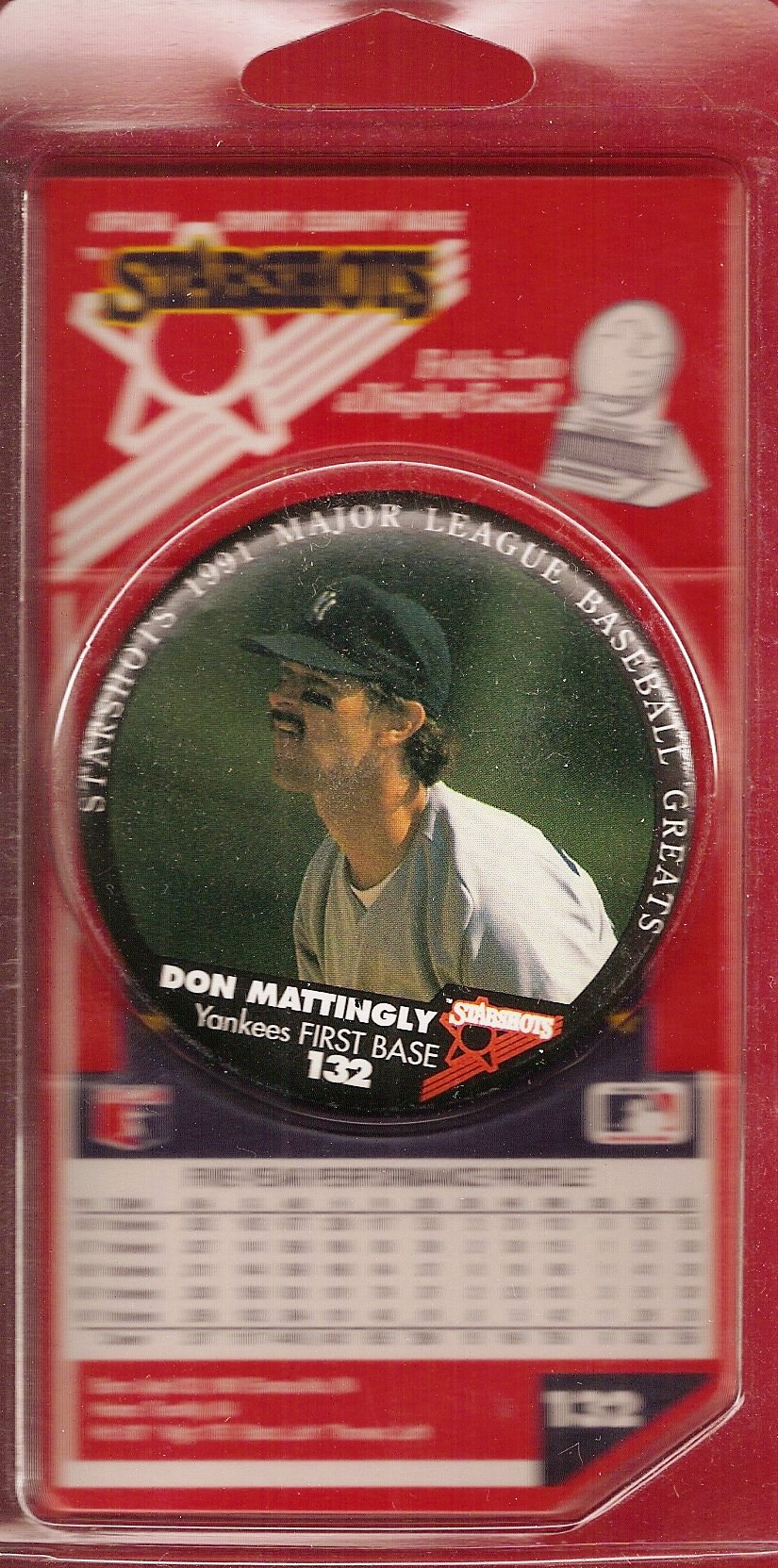 1991 Starshots Badge (Mattingly)