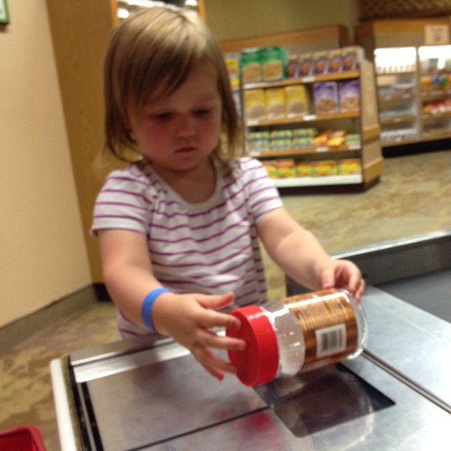 Scanning peanut butter at the strong. #latergram