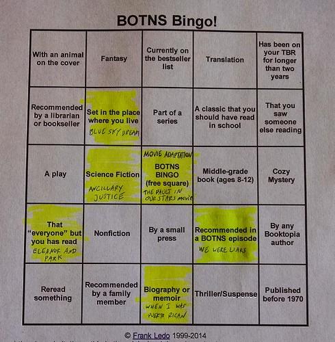 BOTNS Bingo - June