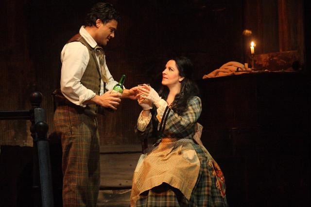Vittorio Grigolo as Rodolfo and Angela Gheorghiu as Mimì in La bohème, The Royal Opera  © ROH / Catherine Ashmore 2014