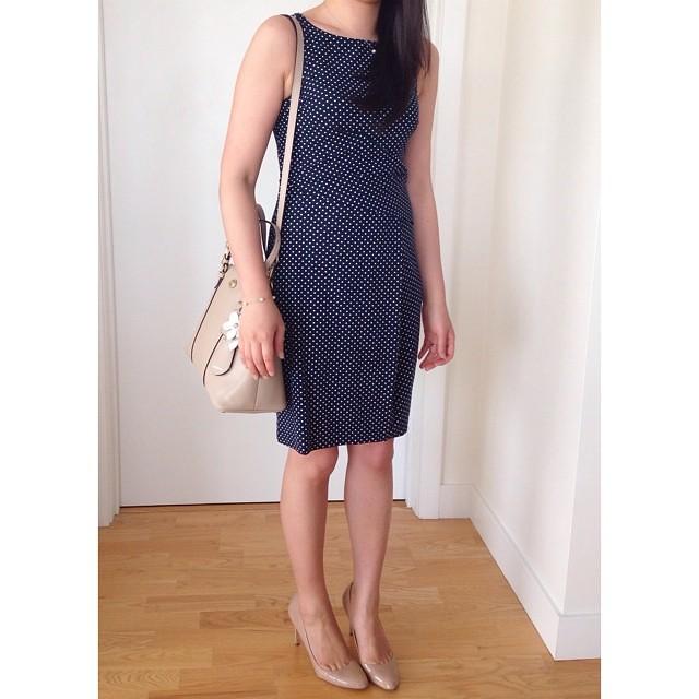 Finally wearing this #AnnTaylor polka dot dress I purchased last year #abouttime //www.liketk.it/PIs @liketkit #liketkit