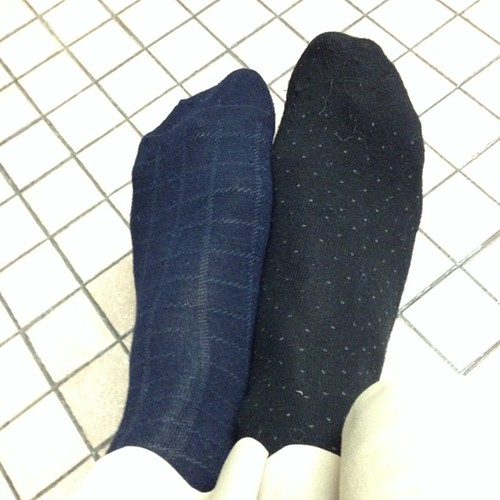 #bikecommute problems: realizing you packed two different socks.