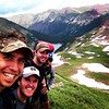 Back from the wilderness! Expedition team breaks for documentation, somewhere on the four pass loop. #maroonbells #colorado