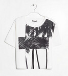 MANGO Palm Neoprene-Effect T-Shirt