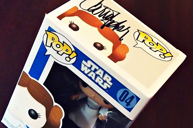 Carrie Fisher Signed Princess Leia Funko