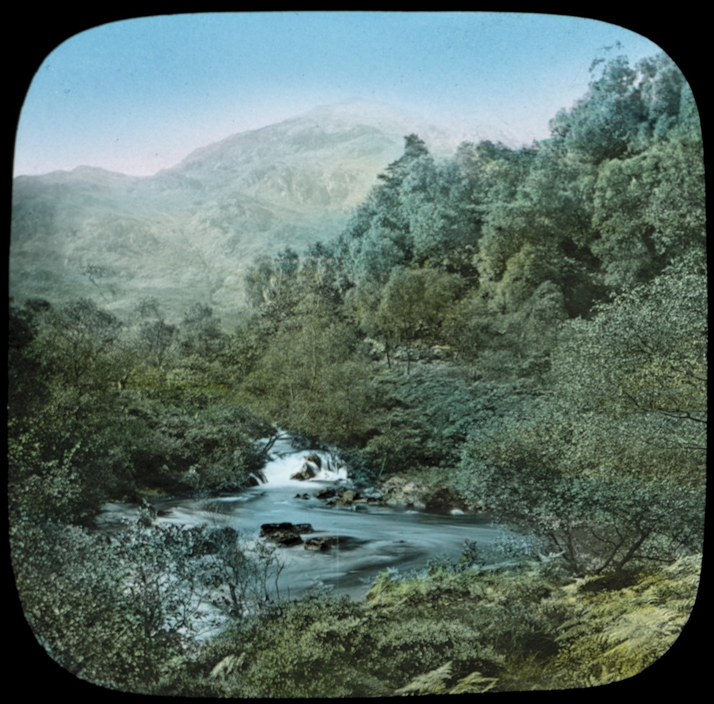 Pass of the Trossachs and Ben Venue, Highlands of Scotland : a lantern slide used by John Flynn in lectures / [John Flynn]