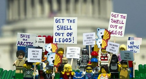 Greenpeace Lego Shell Capitol Hill