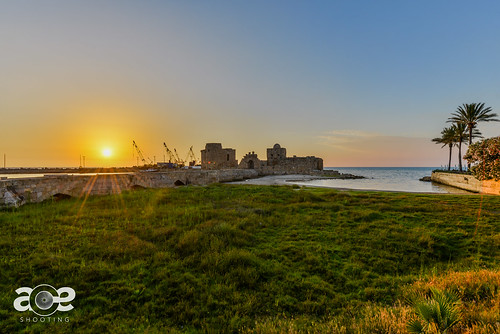 sunset lebanon colorful saida hdr