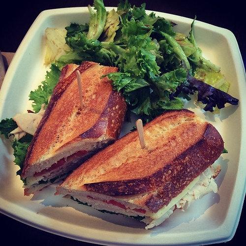 Delicious lunch at #boudin bakery with @thedeb83 today. #sanfrancisco #kategoestocalifornia