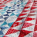 Modern Stars & Stripes Quilt by mrs gaskell