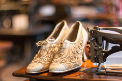 Shoes at the London Sewing Machine Museum