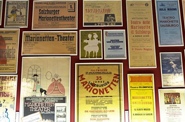 Old posters, Marionette Theatre, Salzburg, Austria